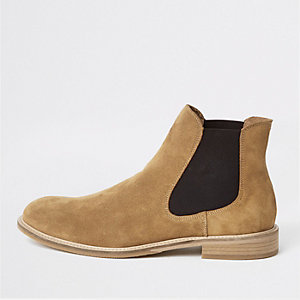 Selected Homme brown suede Chelsea boots