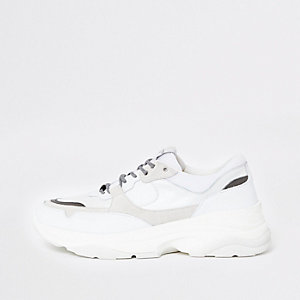 Selected Homme - Witte sneakers met profielzool