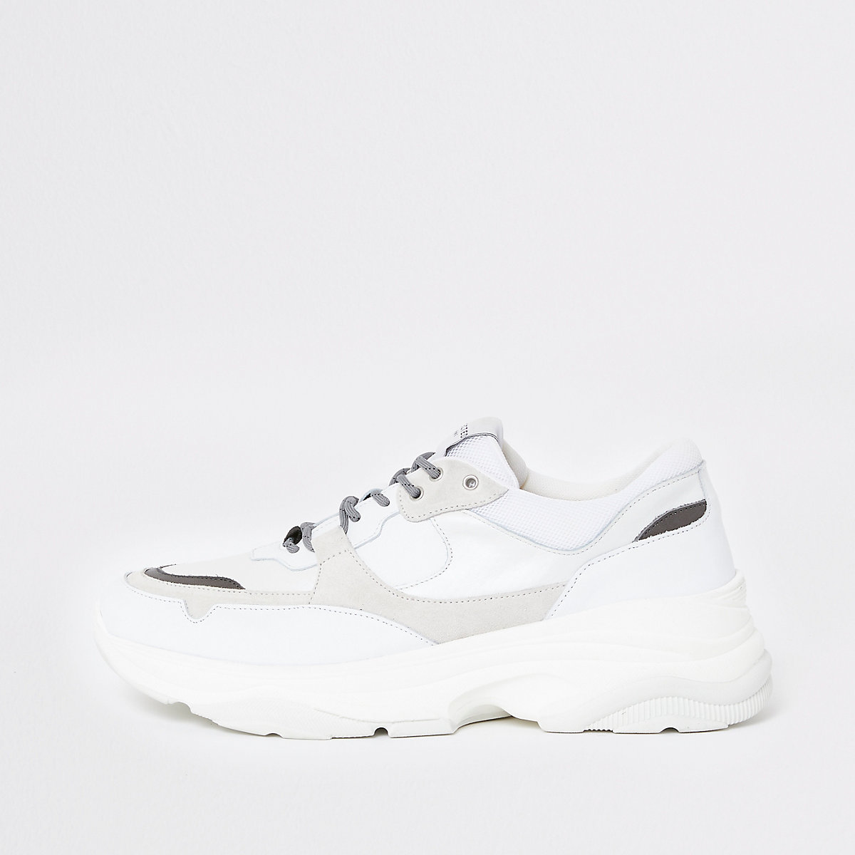 Selected Homme white chunky runner sneakers
