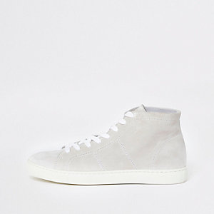 Selected Homme – Weiße High-Top-Sneaker
