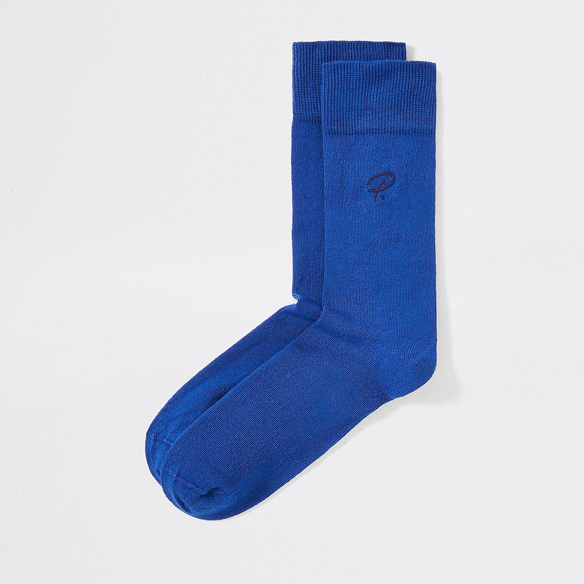 Blue 'Prolific' socks