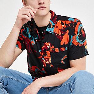 Lee black floral short sleeve shirt