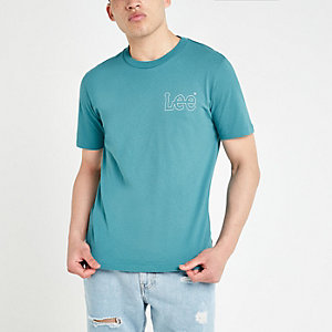 Lee green logo print T-shirt