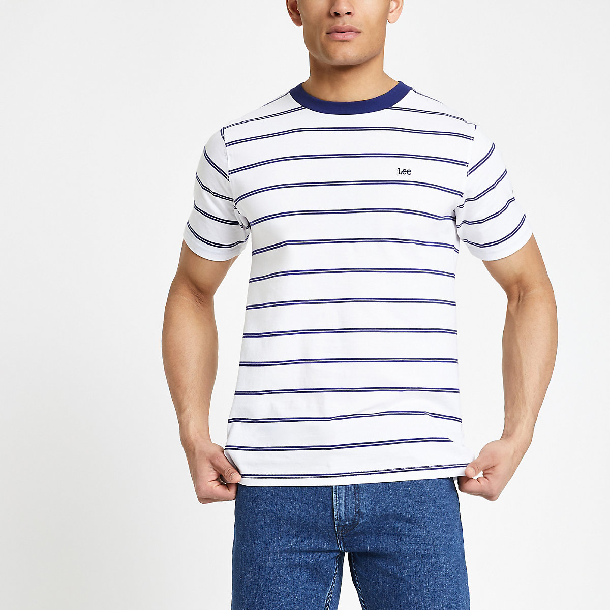 Lee white stripe T-shirt