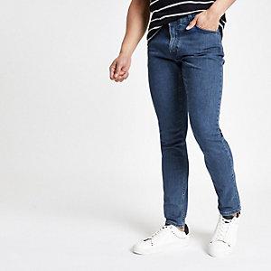 Lee - Donkerblauwe denim jeans