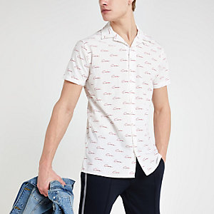 Jack and Jones - Wit overhemd met monogram