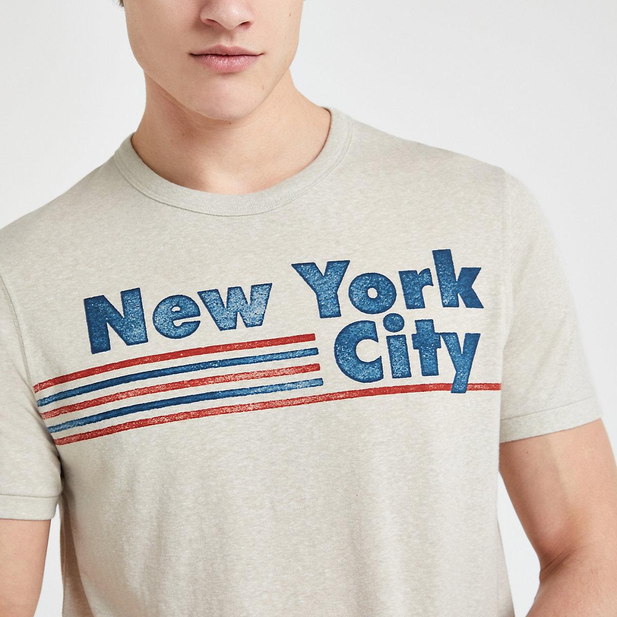 Jack and Jones white 'New York City' T-shirt