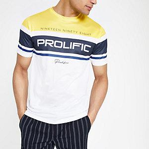 T-shirt en tulle slim « Prolific » blanc