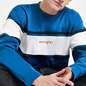 Wrangler blue colour block sweatshirt