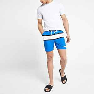Wrangler blue stripe swim trunks
