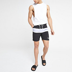 Wrangler black stripe swim trunks