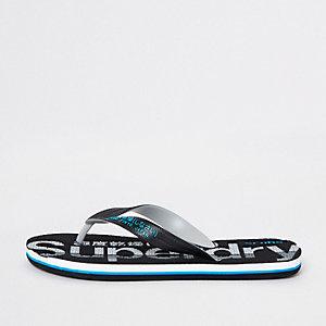 Superdry black flip flops