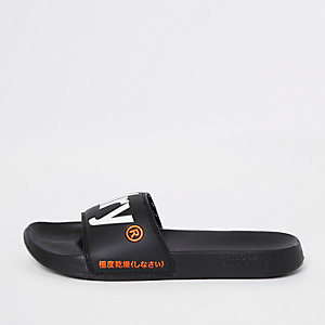 Superdry – Schwarze Slipper
