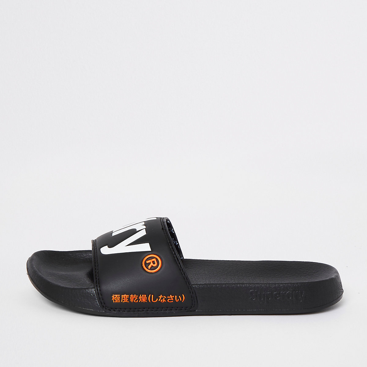Superdry black sliders