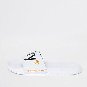 Superdry – Weiße Slipper