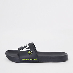 Superdry navy sliders