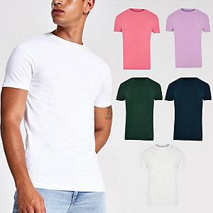 Lot de5 t-shirts ajustés multicolores