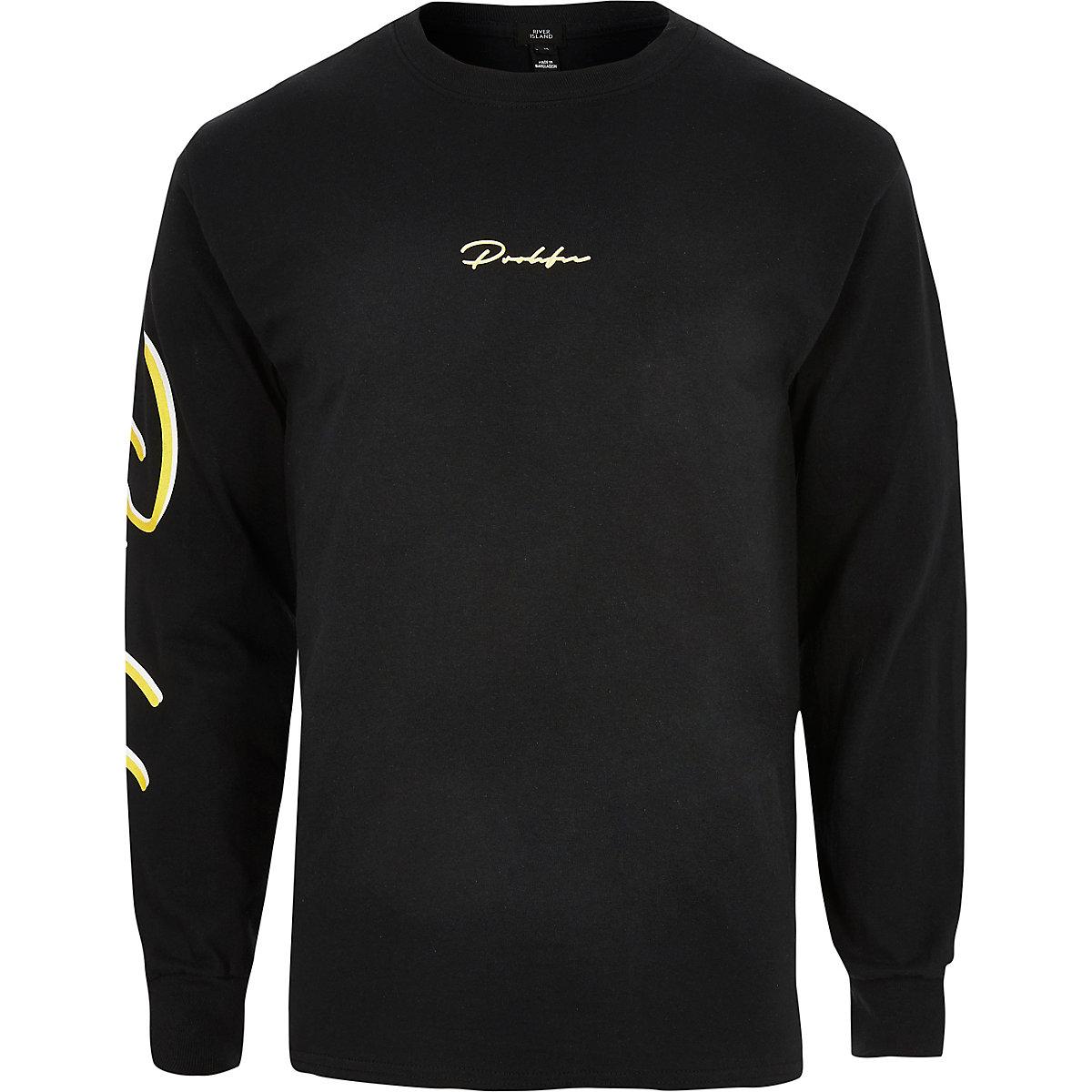 Black 'Prolific' long sleeve T-shirt
