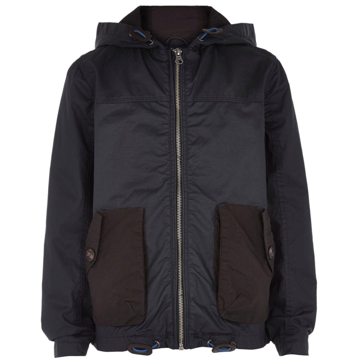 Boys navy riften wind breaker jacket