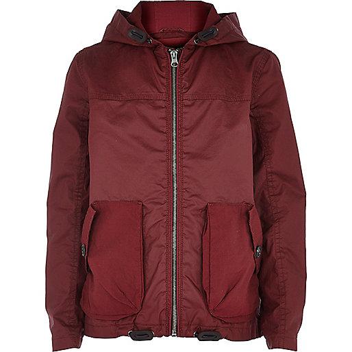 Boys red riften wind breaker jacket