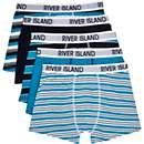 Boys blue 5 pack stripe underwear