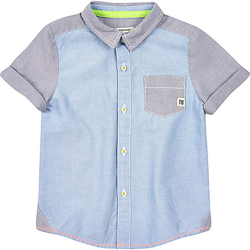 Mini boys blocked oxford shirt