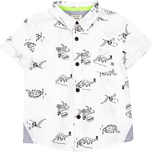 Mini boys dinosaur print shirt