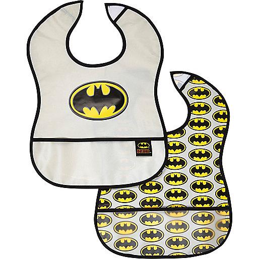 Mini boys Batman bib 2 pack