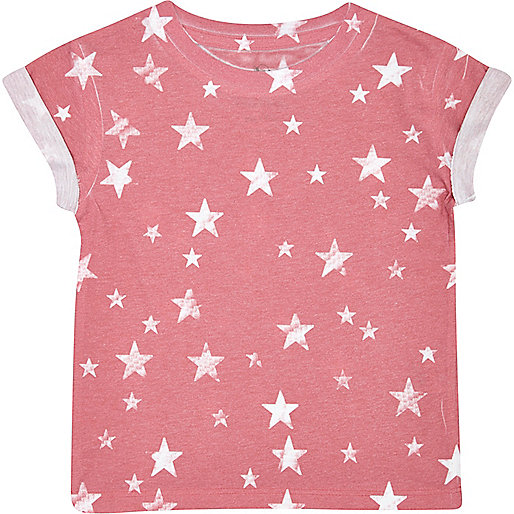 Mini boys red star print t-shirt