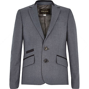 Boys navy suit jacket
