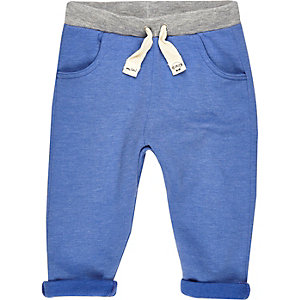 Mini boys blue joggers
