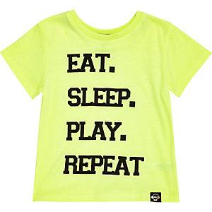 Mini boys green eat sleep play repeat t-shirt