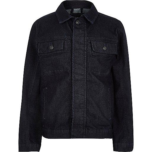 Kids dark blue denim jacket