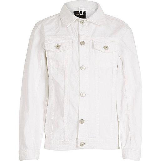Kids white denim jacket - jackets - coats / jackets - boys