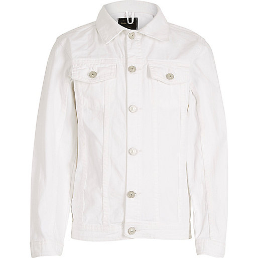 Kids white denim jacket