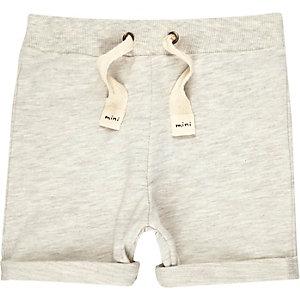 Mini boys cream jersey shorts