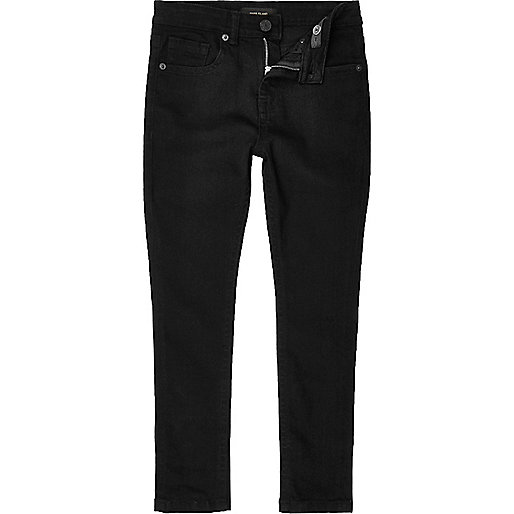 Boys black Sid skinny stretch jeans