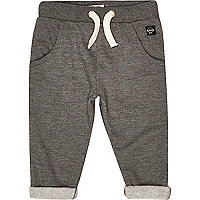 Mini boys grey turn-up joggers