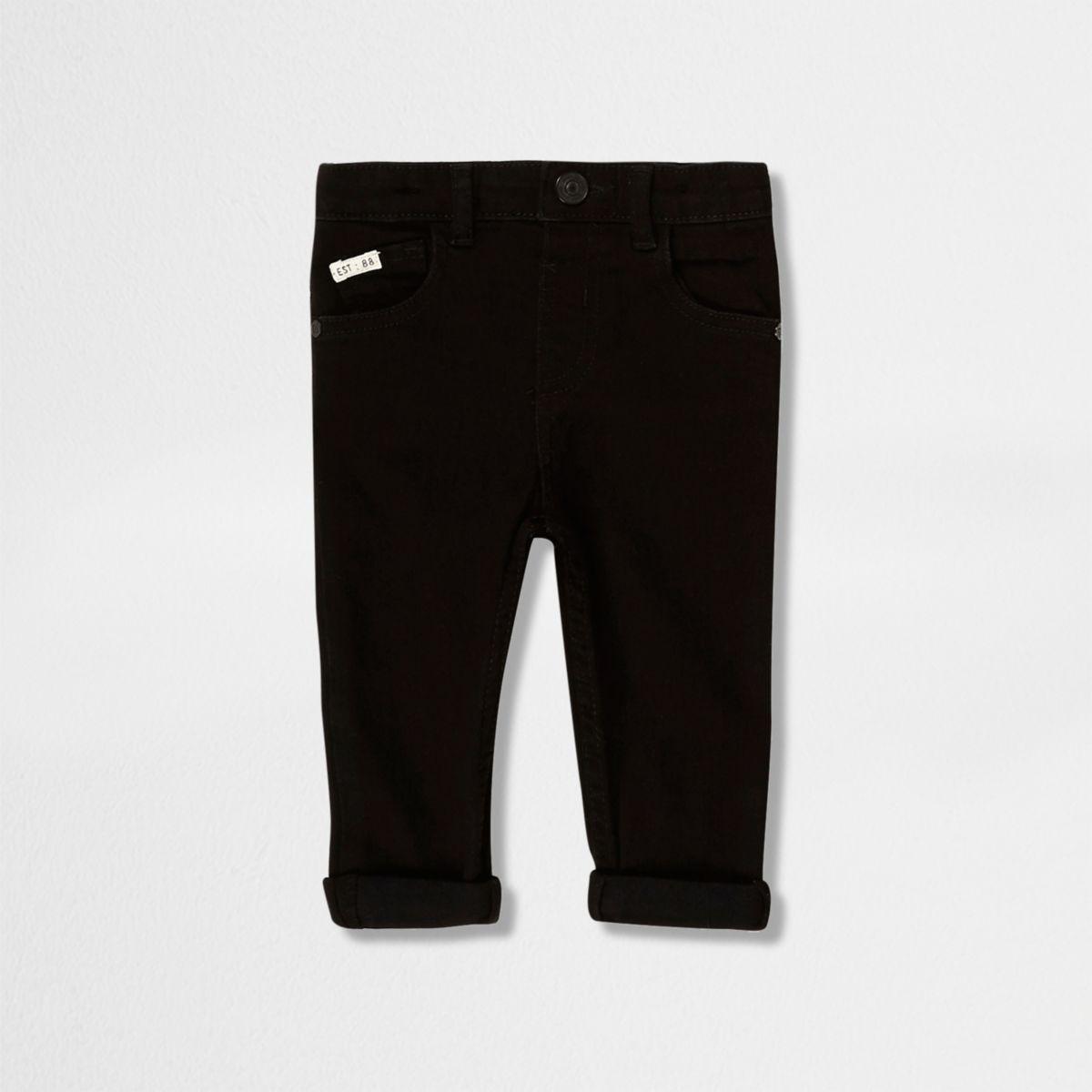 Mini boys black skinny jeans