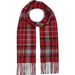 Écharpe à motif écossais rouge pour garçon