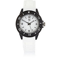Boys white rubber sporty watch