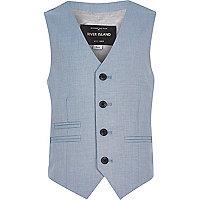 Gilet de costume bleu clair pour garçon