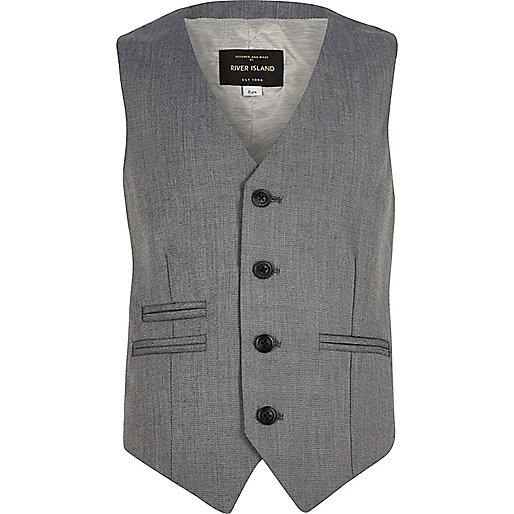 Boys light grey vest