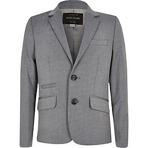 Veste de costume cintrée gris clair pour garçon