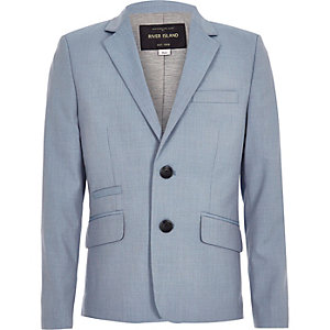 Boys light blue suit blazer