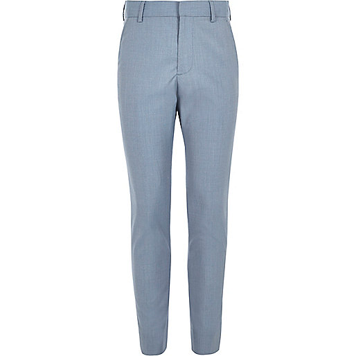 Pantalon de costume bleu clair pour garçon
