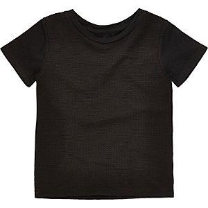 Zwart T-shirt met textuur voor mini boys