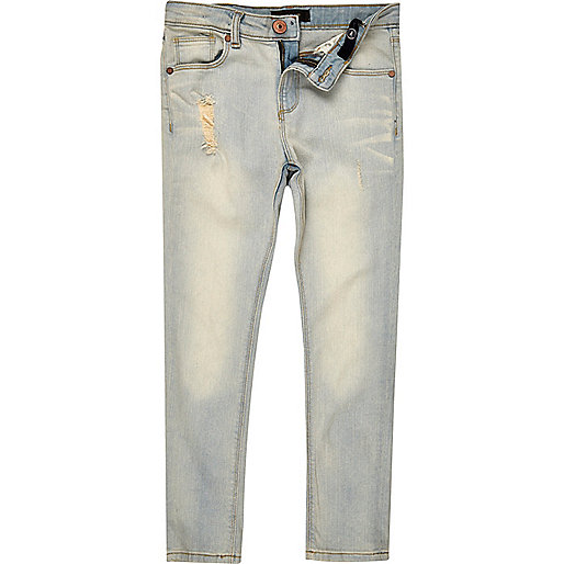 Boys light faded Sid skinny jeans