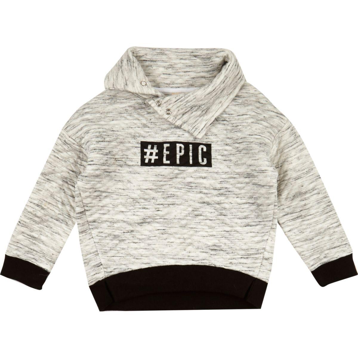 Mini boys cream epic sweatshirt