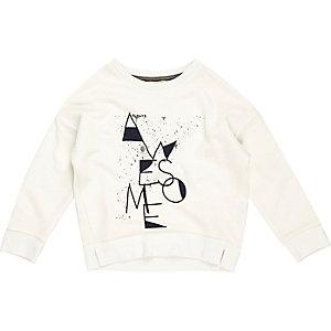 Cremefarbenes Sweatshirt mit Awesome-Slogan